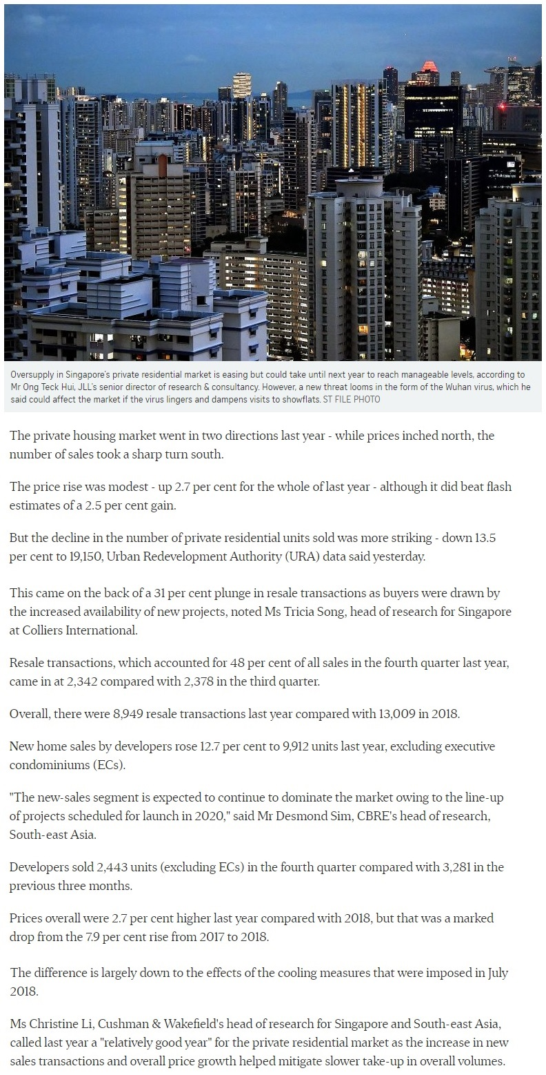 Canninghill Piers - Singapore private home prices inch up 2.7 for 2019 1