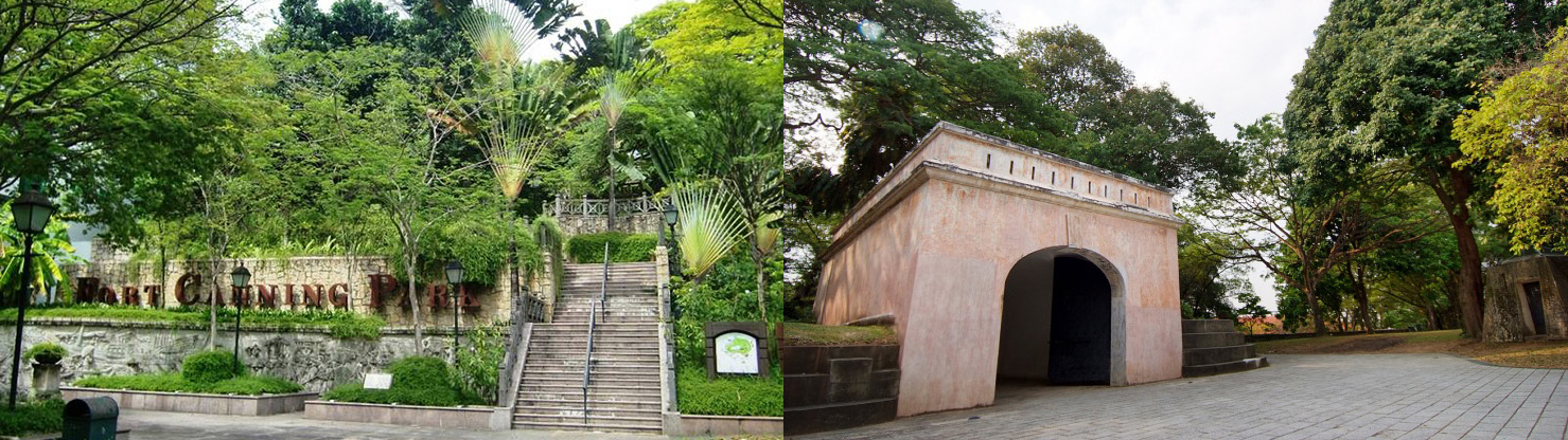 Canninghill Piers - Fort Canning Park Map