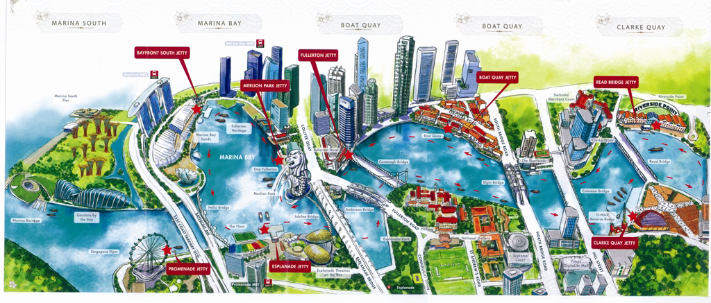Canninghill Piers - Singapore River Map