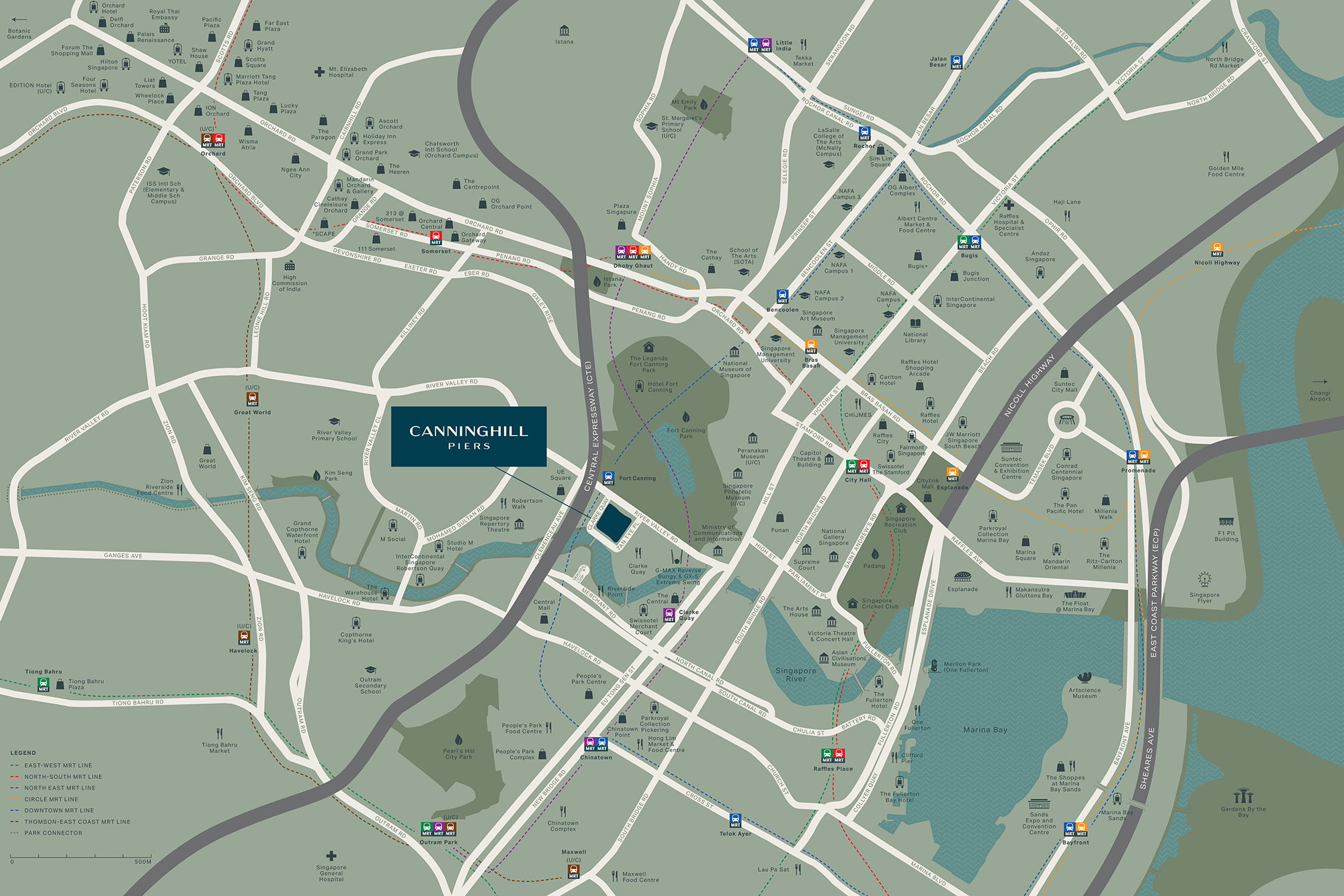 Canninghill Piers Location Map Singapore